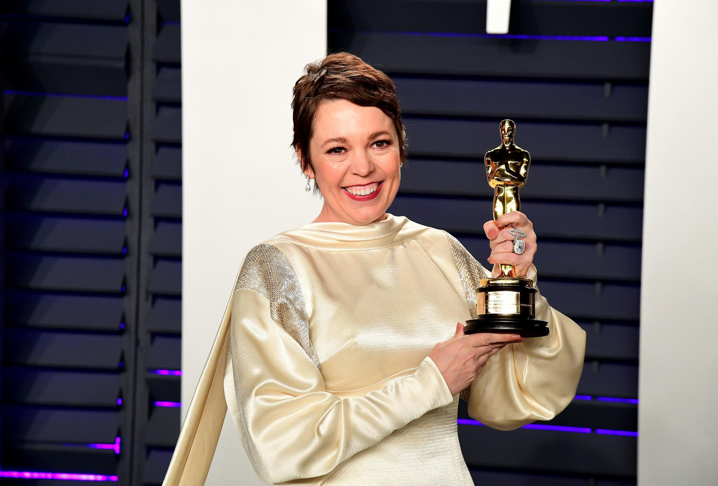 Olivia Colman with her Oscar for Best Actress. Photo: Ian West/PA Wire