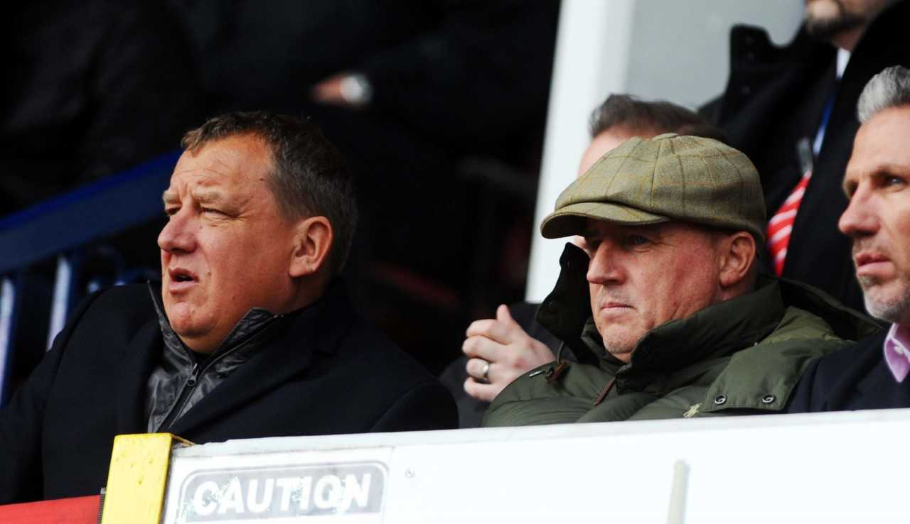 Paul Jewell, right, pictured with Swindon chairman Lee Power in his current role as their director of football