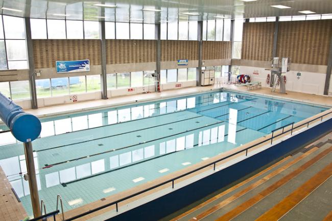 The pool at Aireborough Leisure Centre before the refurbishment
