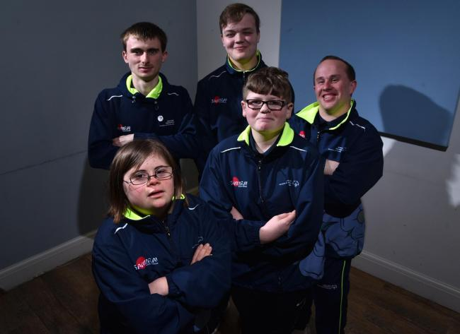 Bradford's Special Olympian Ella Curtis, front left, has been named in Cycling UK's 100 Women in Cycling list