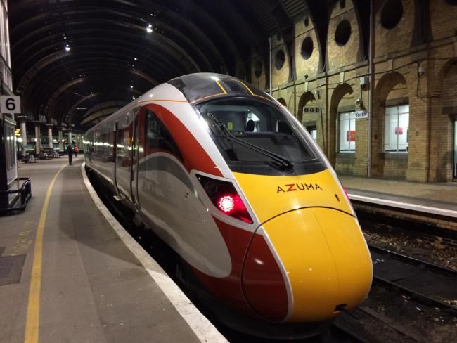An Azuma, pictured at York Railway Station
