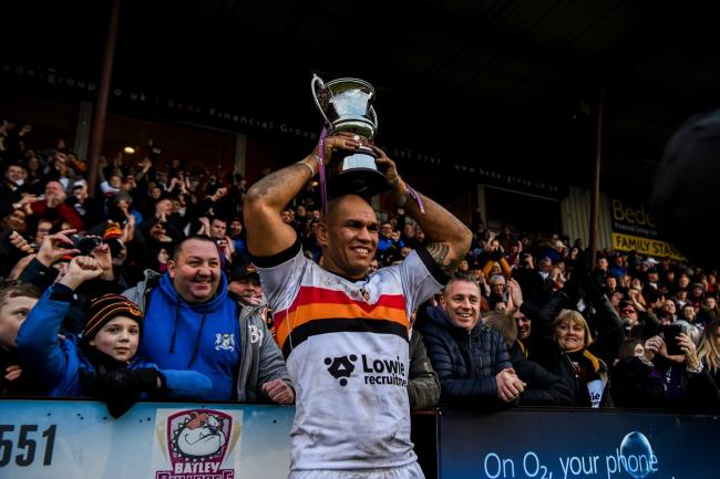 Jake Webster proved popular in his one season at Bradford Bulls, but he has left to join pastures new at Keighley Cougars Pic: Tom Pearson.