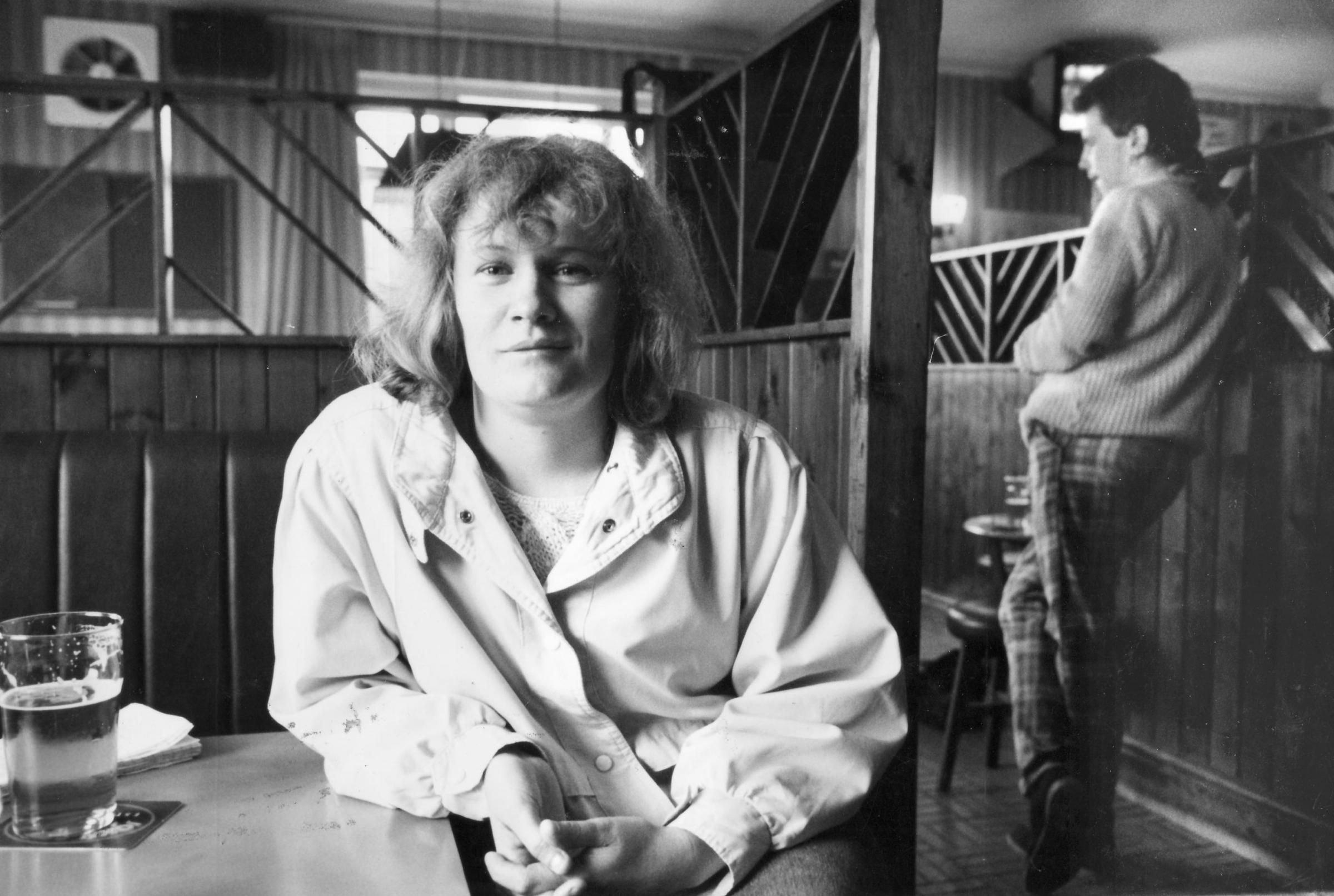 Andrea Dunbar, pictured in 1987