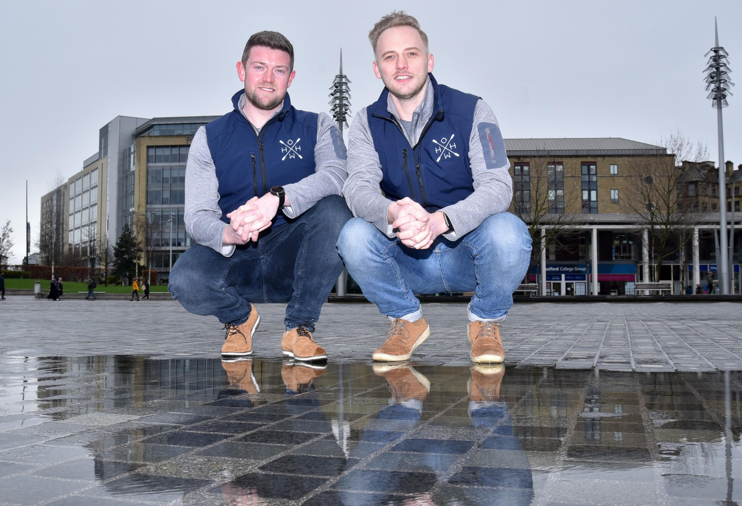 Two rowers who are going to tackle the Talisker challenge across the Atlantic in December the Bradford duo, Hell Oar High Water, who are gearing up to row 3,000 nautical miles, pictred are James Tordoff and Chris Nicholl..