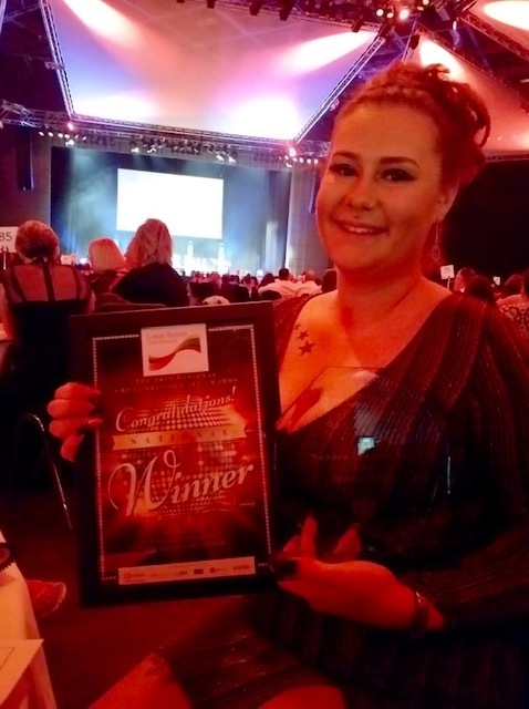 Daisy Aitken, from Care Dynamics Yorkshire, who was named Home Care Newcomer of the Year