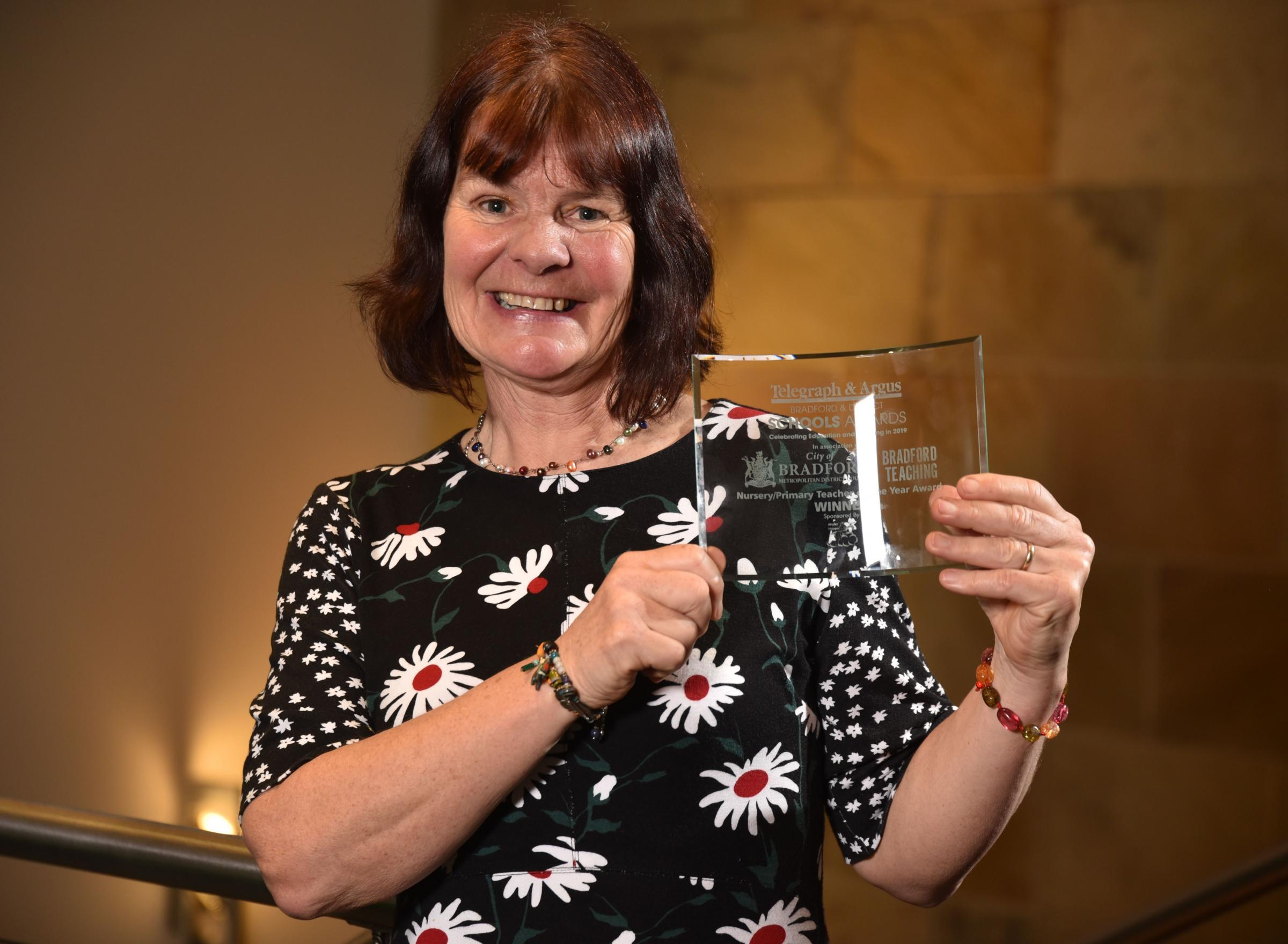 Sue Roberts of Haworth Primary wins Nursery/Primary Teacher of the Year