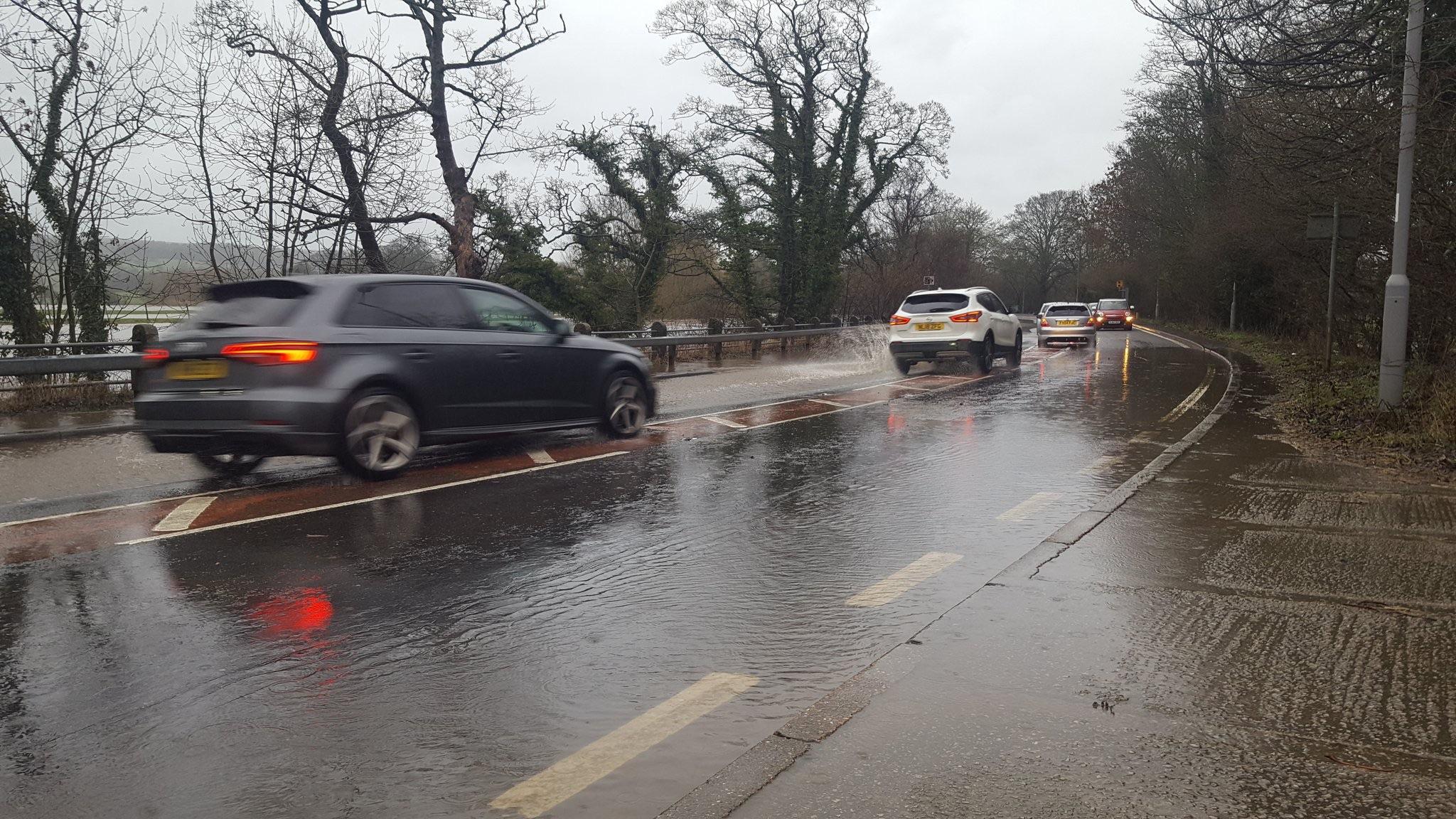 Heavy rain causes road and rail disruption across Bradford district