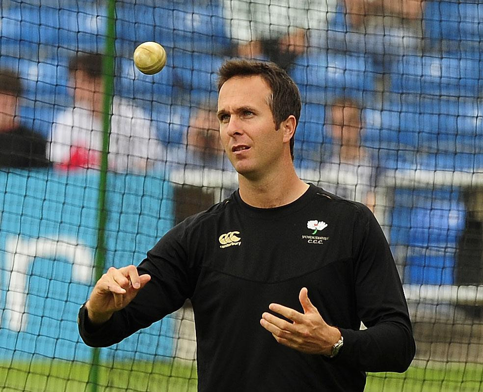 Michael Vaughan at Headingley today before Yorkshire's Twenty20 Cup match against Derbyshire