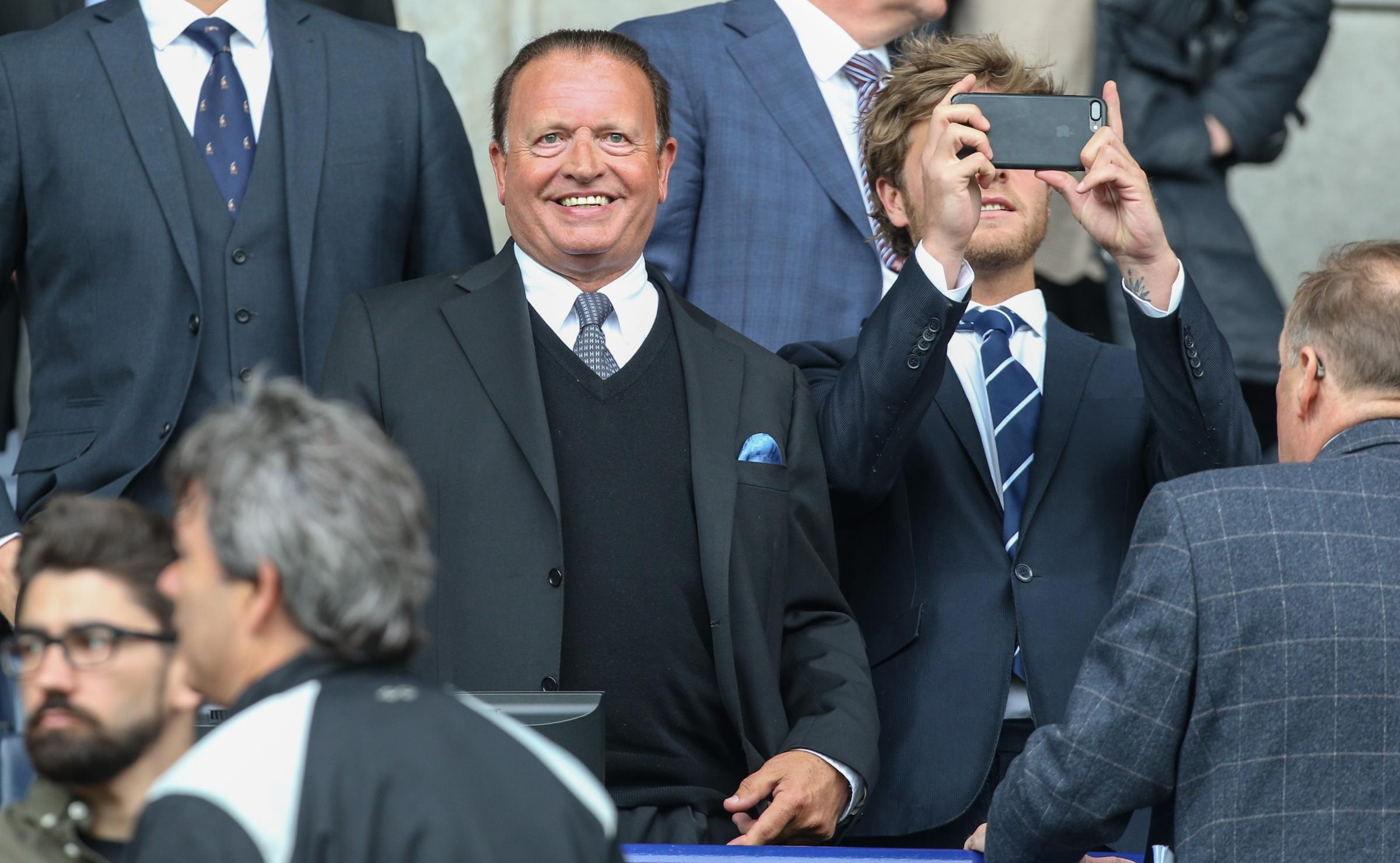 Bolton Wanderers chairman Ken Anderson takes his place in the stand. Picture: Alex Dodd/CameraSport