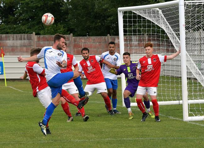 Aiden Day, front, was on target for Campion against Shirebrook