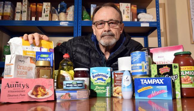 Bob Moon, who works at Wyke Foodbank, believes Universal Credit is to blame for Bradford's food crisis