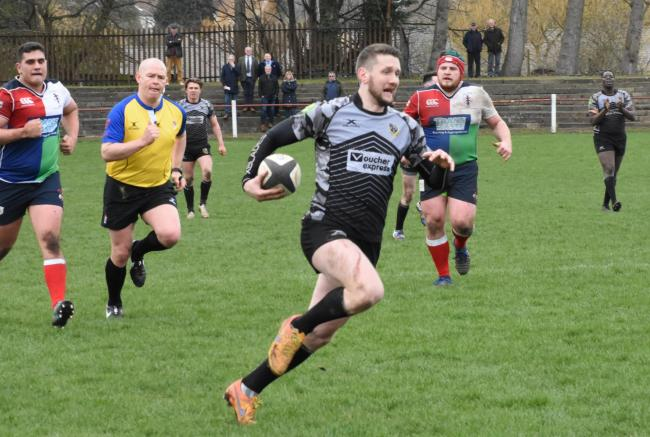 Joe Rowntree had to go off injured for Otley in their game against Chester. Picture: Mike Pratt.