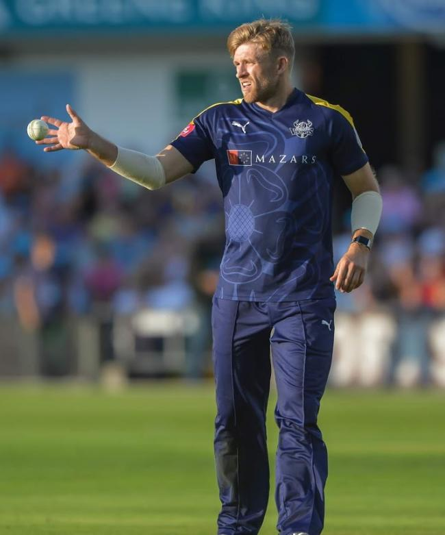 Yorkshire all-rounder David Willey. Picture: Ray Spencer