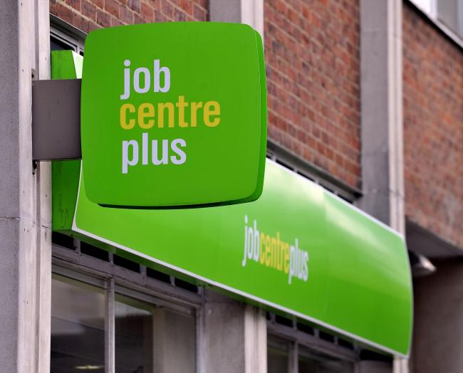 "File photo dated 06/11/14 of a signs on the Jobcentre Plus office as more than a million jobseekers have signed up to a ""rigorous"" regime to do more to find work, the Government has announced. PRESS ASSOCIATION Photo. Issue date: Wednesday Janua"
