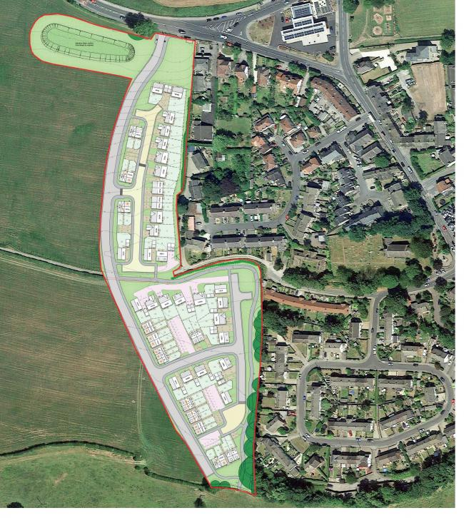 Taylor Wimpey is planning to build 55 homes at this Pool-im-Wharfedale site