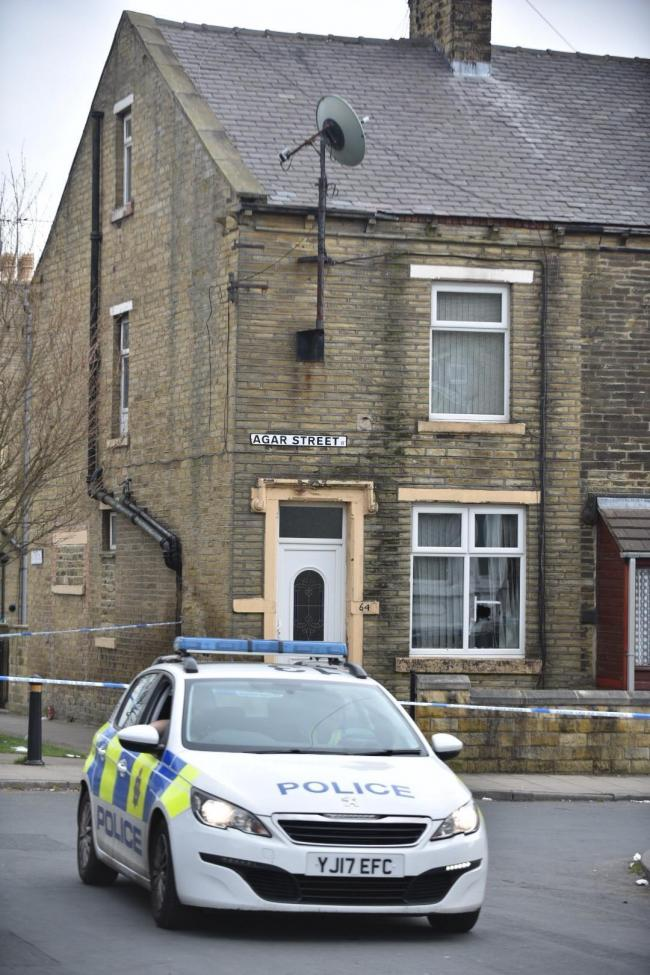 The scene on Agar Street, Girlington, after a shooting incident on Sunday, March 31