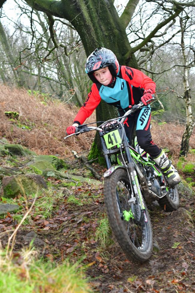 Alfie Lampkin finished second in Youth Class B at Horsforth Motor Club's trial at Skyrakes Farm. Picture: Barry Robinson
