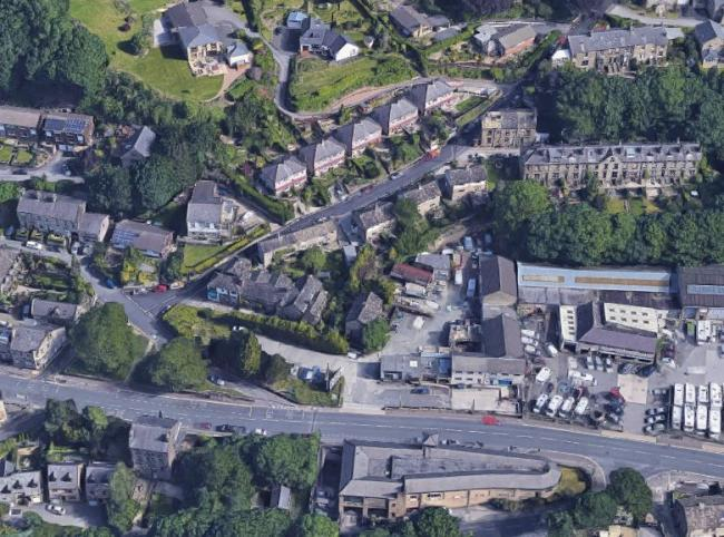 The LRP Business Park on Halifax Road in Hipperholme is to be redeveloped after plans for 14 homes and five commercial units have been approved. Picture: Google Maps
