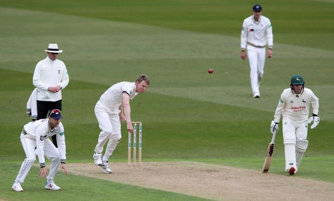 Steve Patterson starred with bat and ball for Yorkshire on day two at York   Picture: Nick Potts/PA Wire