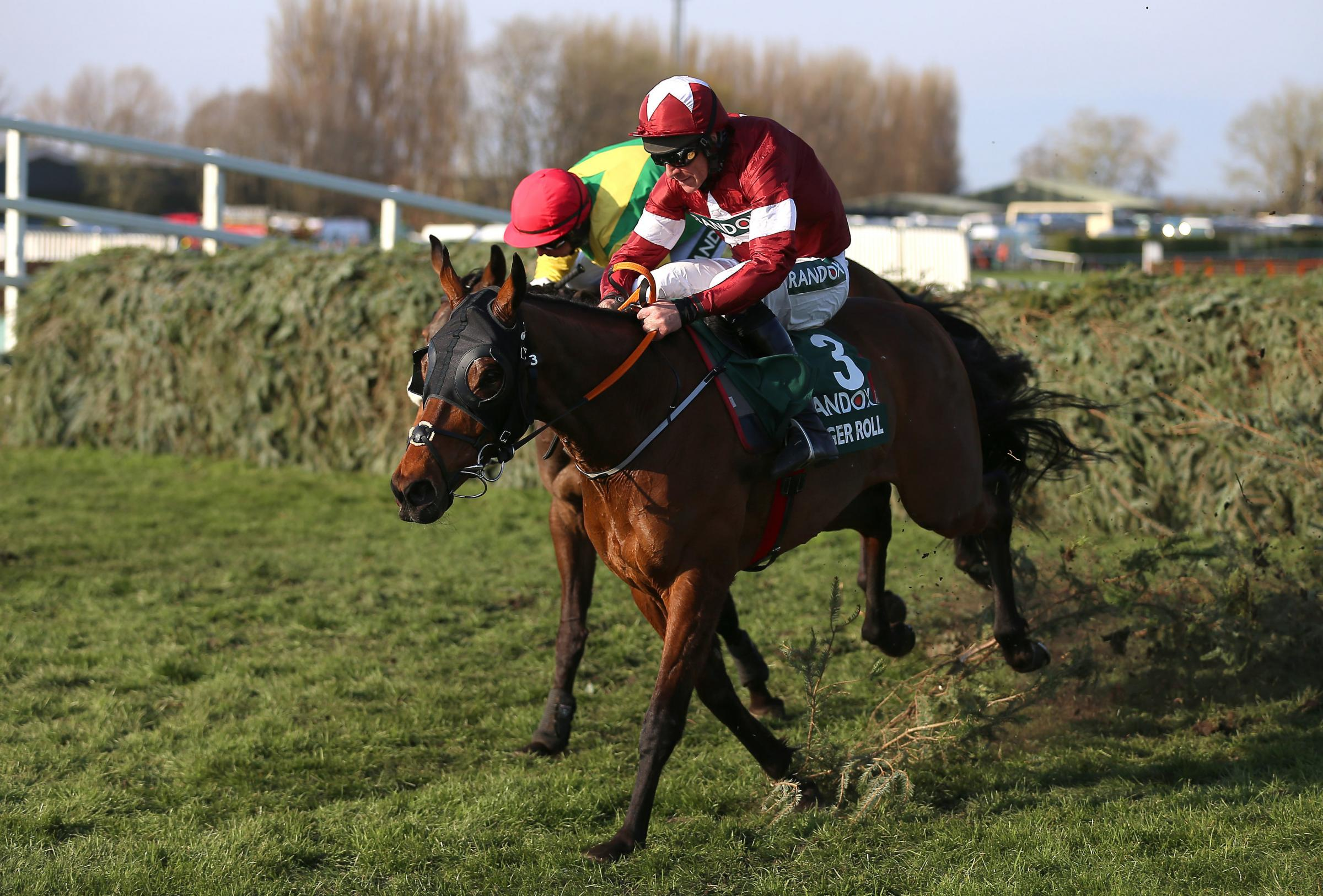Tiger Roll ridden by Jockey Davy Russell on the way to winning the Randox Health Grand National Handicap Chase during Grand National Day of the 2019 Randox Health Grand National Festival at Aintree Racecourse.  Picture: PA
