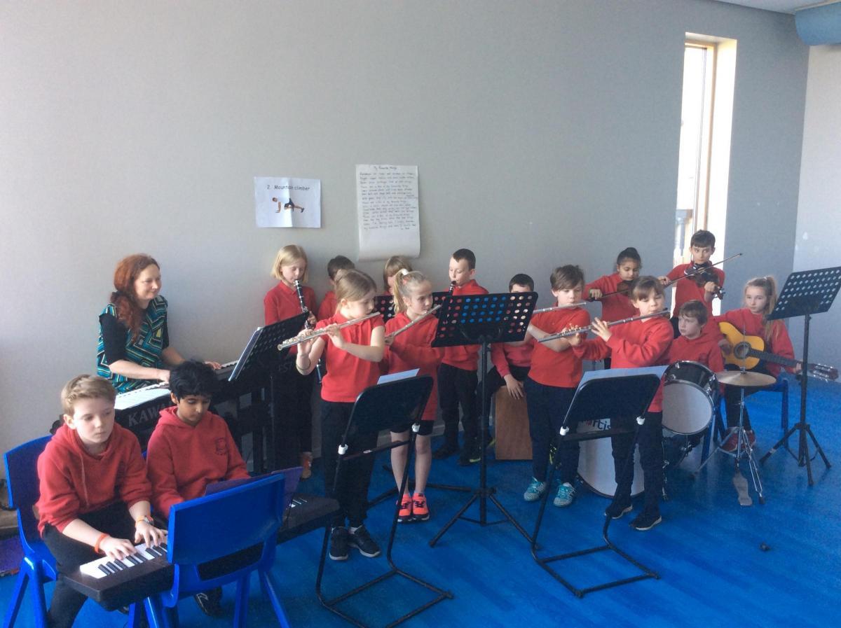 Calverley CE Primary focus on music having big benefits for pupils