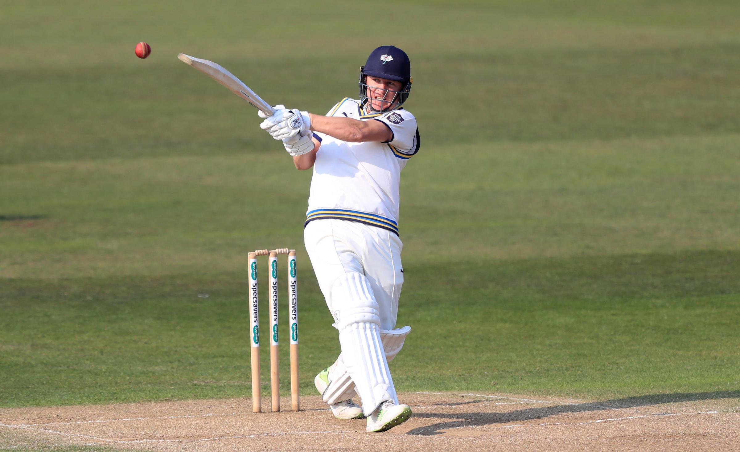 Yorkshire's Gary Ballance fired an unbeaten century before lunch in his side's Specsavers County Championship Division One match against Kent at Canterbury