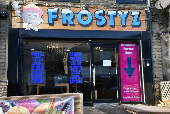 203 Otley Road is currently an ice cream parlour called Frostyz, but it has been refused planning to become a take away because it is too close to a school.