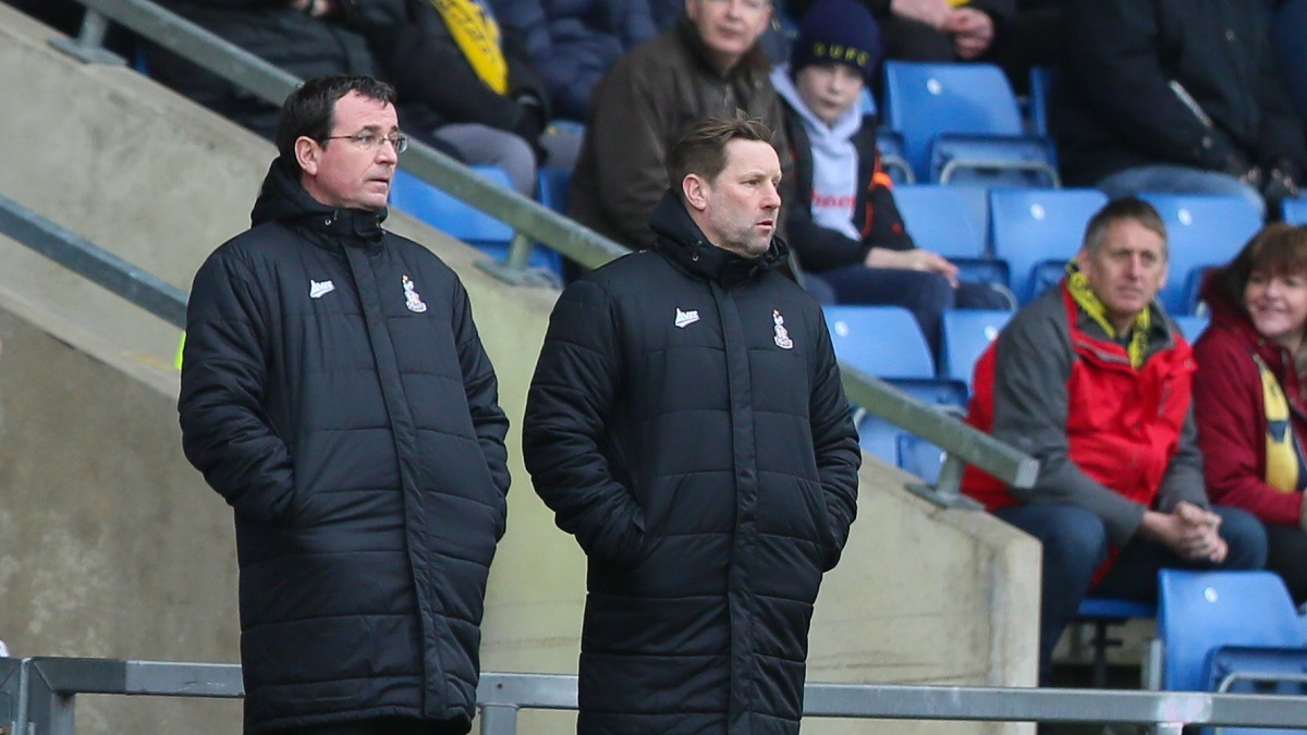 Gary Bowyer's assistant manager Andy Todd, right, is on a short-term contract until the end of the season