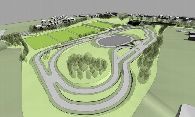 An artist's impression of the proposed Wyke Sports Village