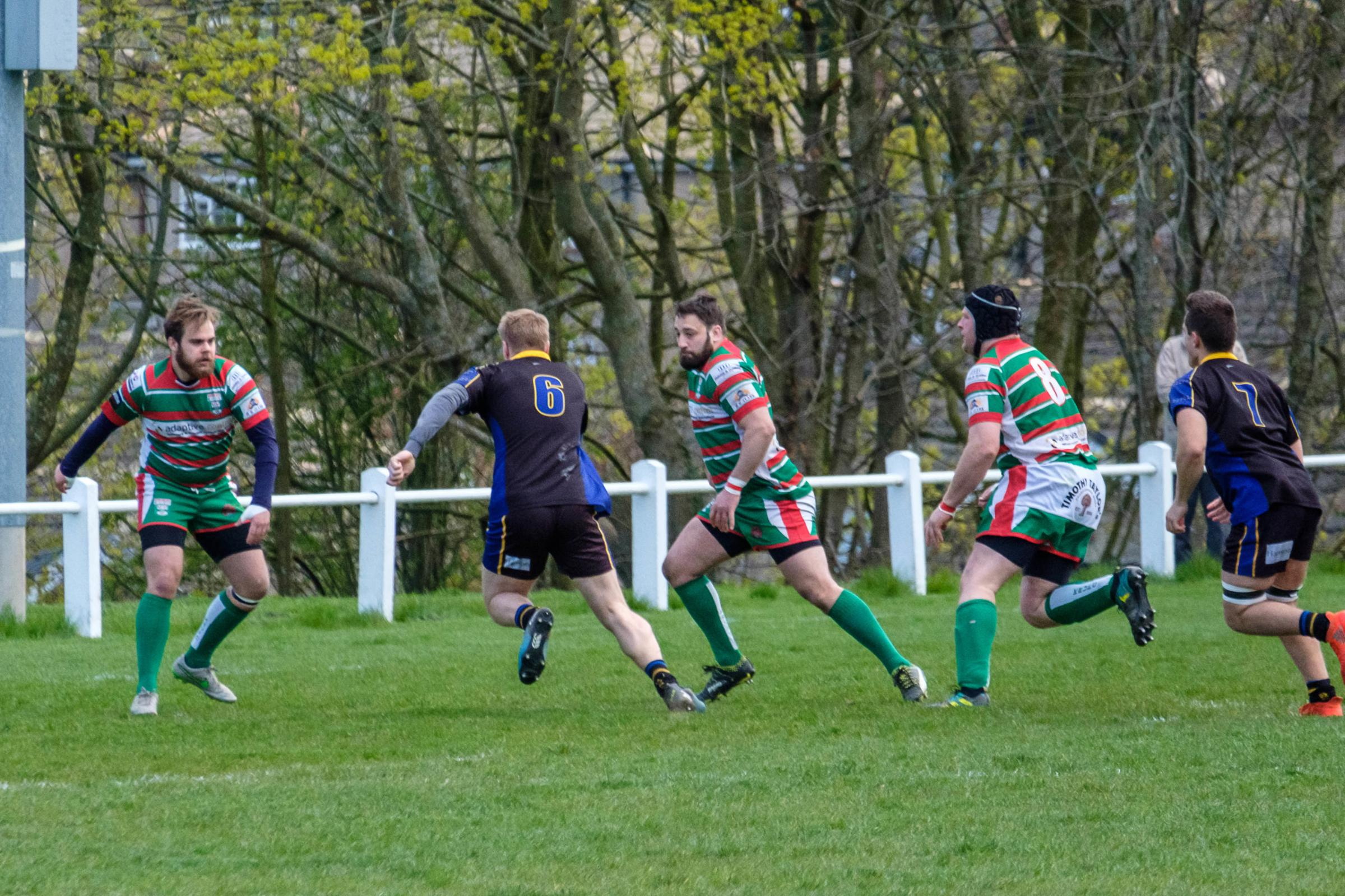 Alex Wood carries the ball for Bradford Salem early in the first half against Keighley. Picture: Phil Jackson