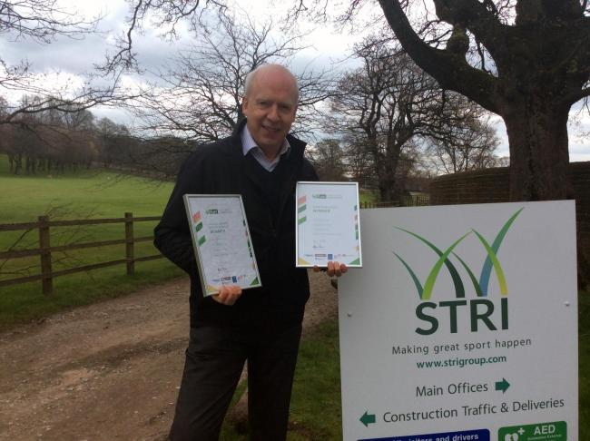 STRI senior consultant James Westwood with the awards
