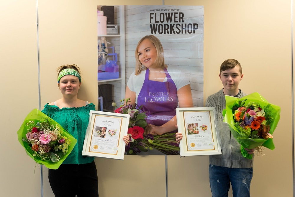 Barnardo's bouquets designed by talented Bradford youngsters