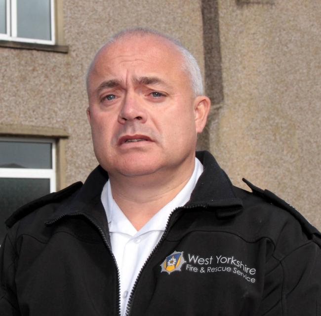 Assistant chief officer Dave Walton of West Yorkshire Fire and Rescue