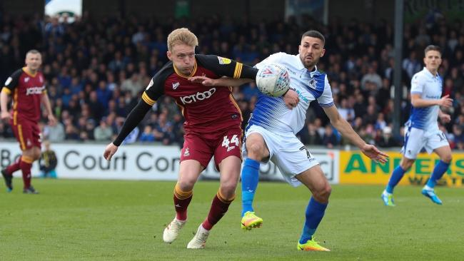 Josh Wright started his first game since November in City's loss at Bristol Rovers. Pic: Thomas Gadd
