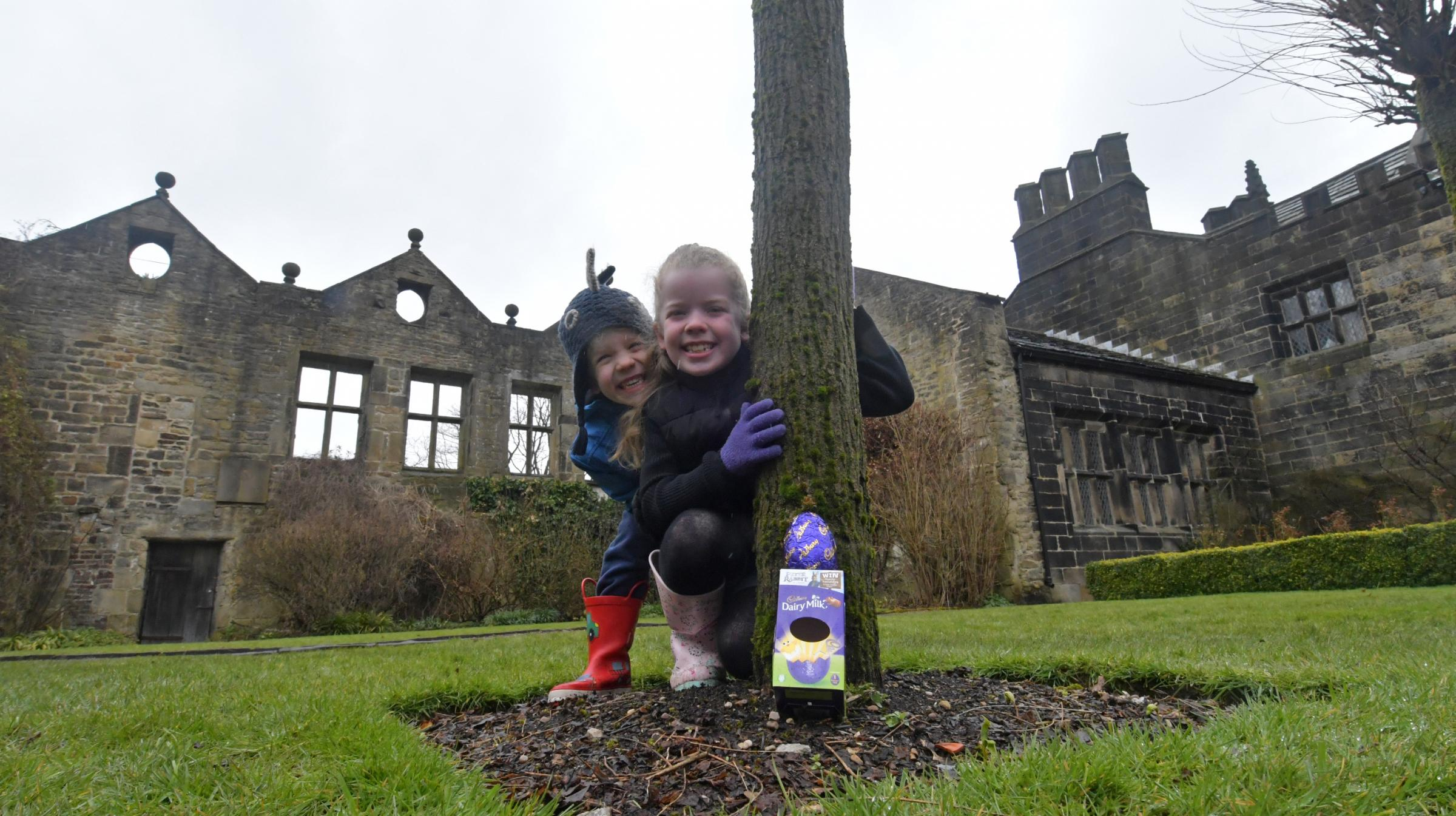 Last year's Cadbury's Easter Egg Hunt at East Riddlesden Hall proved popular with these two youngsters