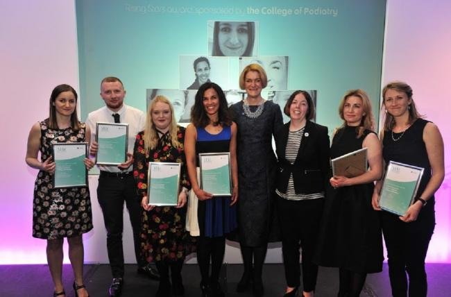 Chloe Knowles, third from left, is named a 'rising star' in Advancing Healthcare Awards