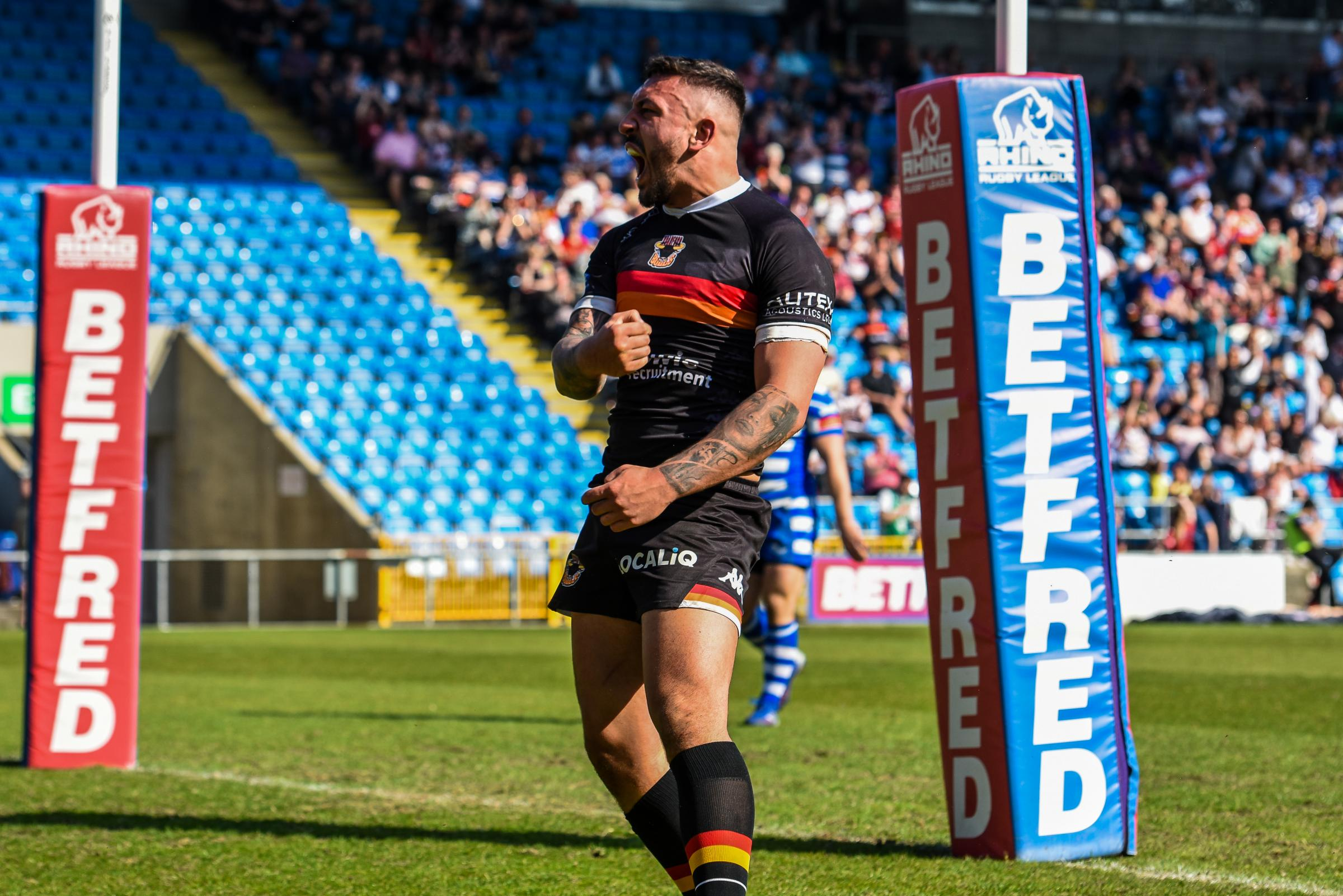 Bulls grabbed a great derby win at Halifax. Picture: Tom Pearson