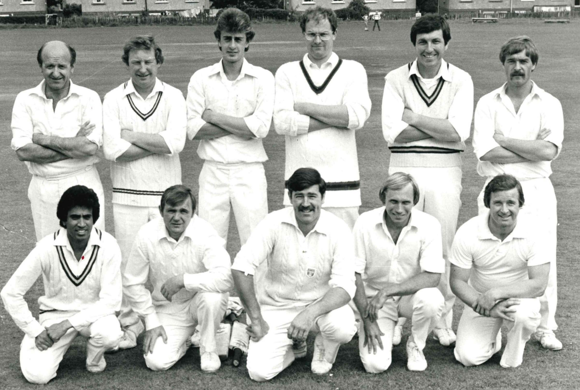 ECCLESHILL 1982: From left, back: Barry Firn, Dave Hallett, Andy Wilsdon, Mick Robinson, Colin Raper, Peter Vallance. Front: Numan Shabir, Brian Shirley, Des Wyrill (captain), Wayne Giebel, Frankie Williams.
