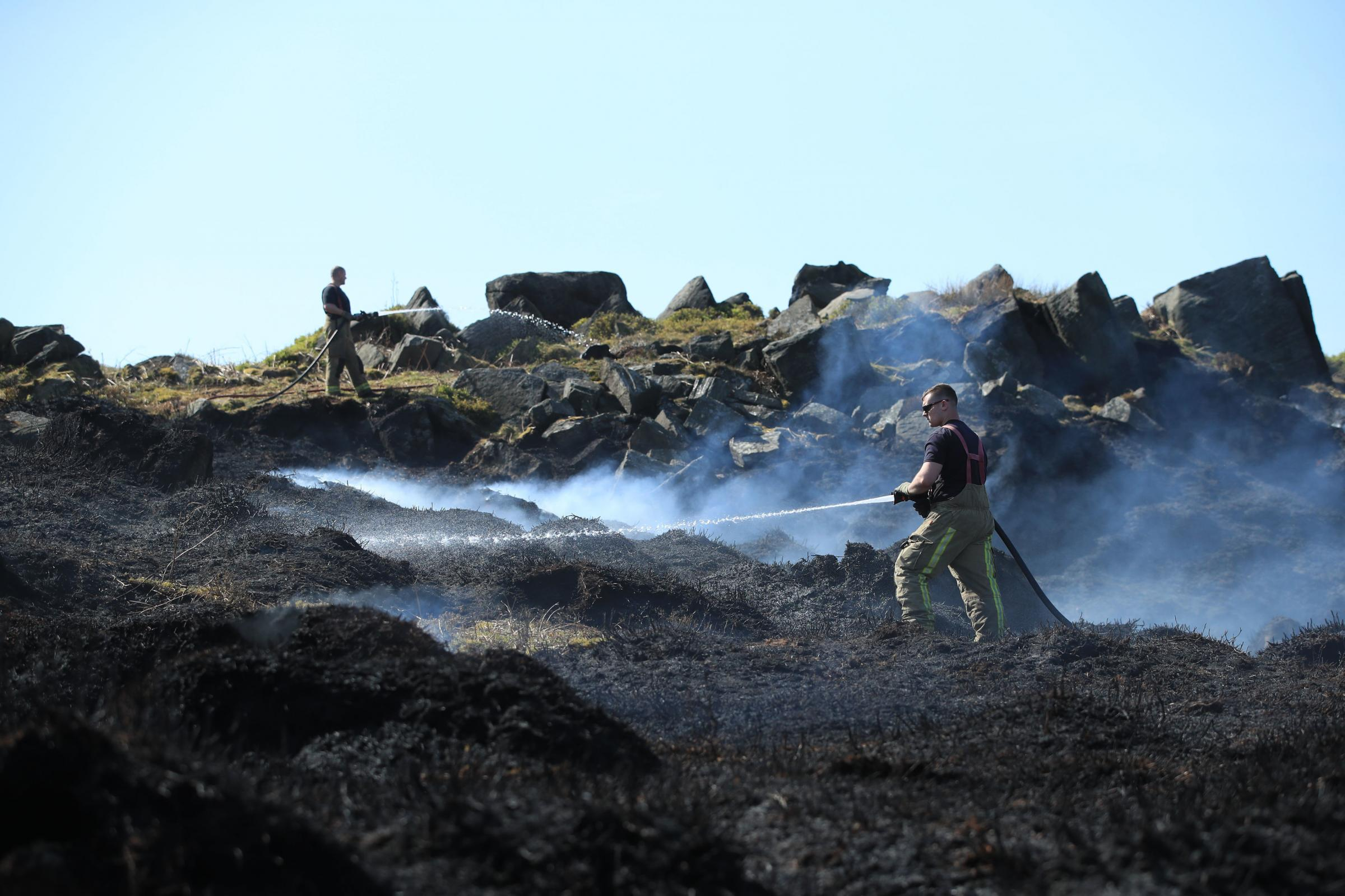 Three men arrested after Ilkley Moor fire, police confirm