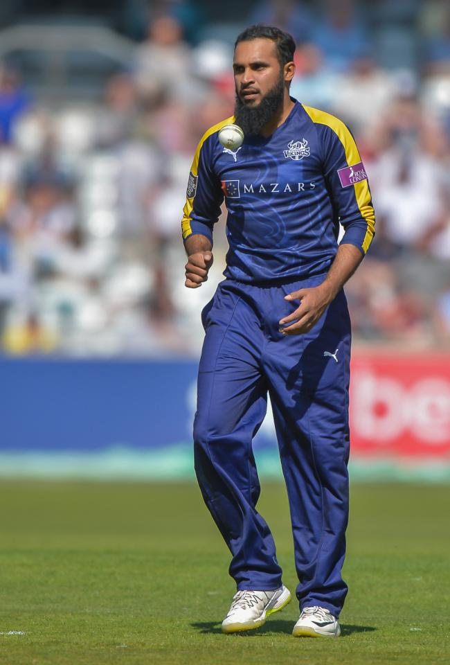 Bradford's Adil Rashid gained his 50th wicket inT20 international cricket. Picture: Ray Spencer