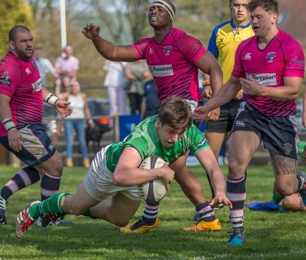 Will Lawn scores a try for Wharfedale. Picture: Ro Burridge