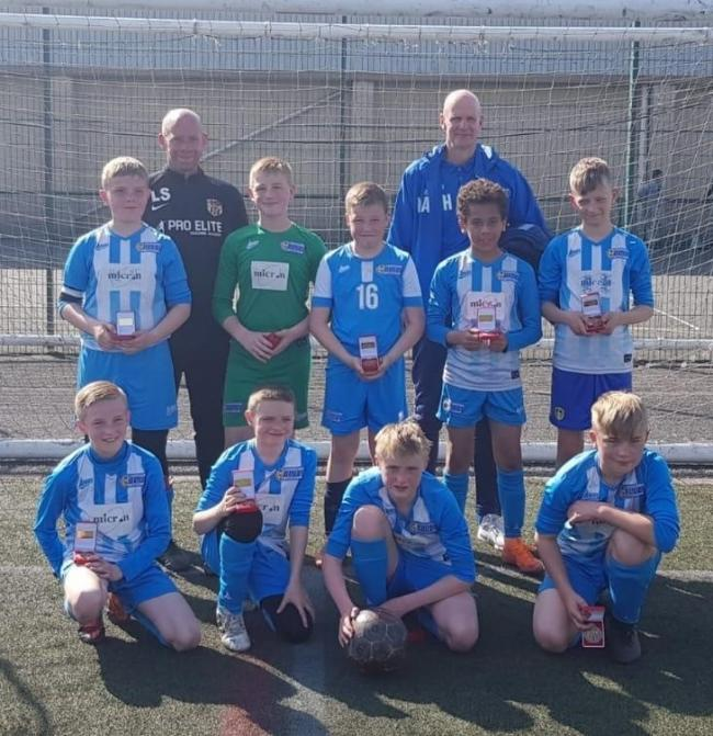 Eccleshill show off their runners-up medals
