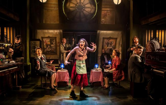 Audrey Brisson as Amelie with the company. Picture: Bradford Theatres