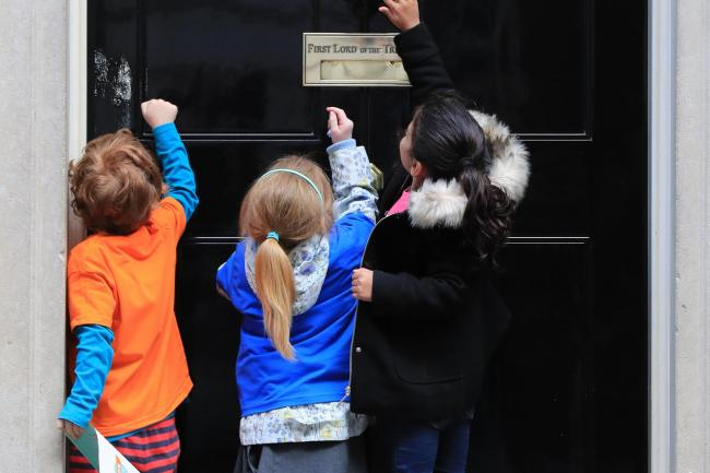 Children at Downing Street