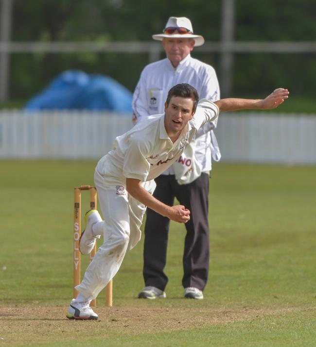 Woodlands overseas player Brad Schmulian scored an unbeaten 90 in 61 balls in his side's three-wicket win over Hanging Heaton. Picture: Ray Spencer
