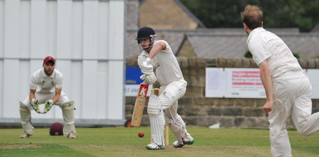 Otley captain James Davies, shown here batting, hit 89no to lead his team victory against Ilkley