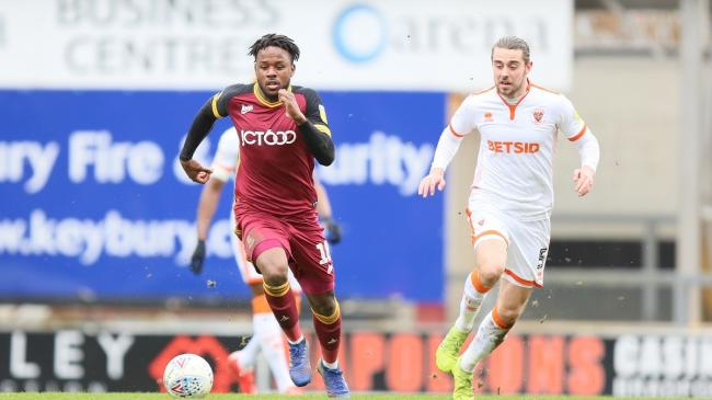 "Jermaine Anderson is still ""playing catch-up"" with his career, according to City boss Gary Bowyer. Pic: Thomas Gadd"