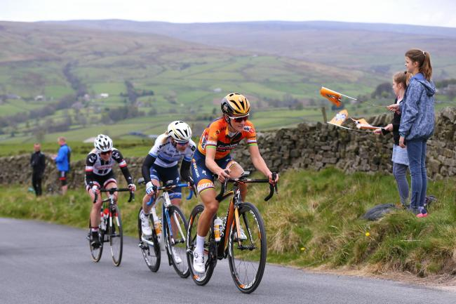 Cycling: 3rd Tour of Yorkshire 2017 / Women's Race.Lizzie Elizabeth ARMITSTEAD-DEIGNAN (GBR)/ Anna VAN DER BREGGEN (NED)/ .Tadcaster - Harrogate (122,5Km) / Women / Tour de Yorkshire  /.(Photo by KT/Tim De Waele/Corbis via Getty Images).
