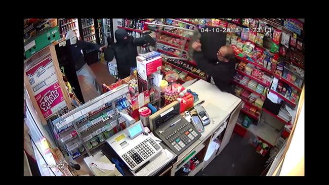 WATCH: Shopkeeper fends off armed robbers in dramatic video evidence from Bradford Moor murder trial