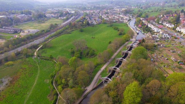 The Five Rise Locks and Bingley. Picture: Paul Lister/T&A Camera Club